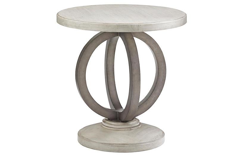 Hewlett Round Side Table, Oyster