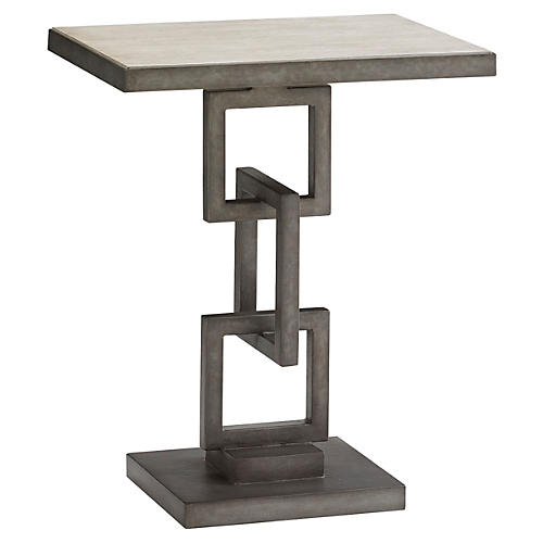 Deerwood Side Table, Pewter