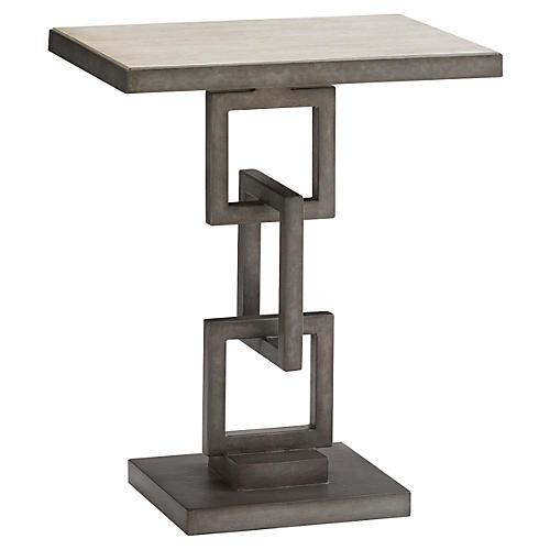 Deerwood Side Table, Pewter