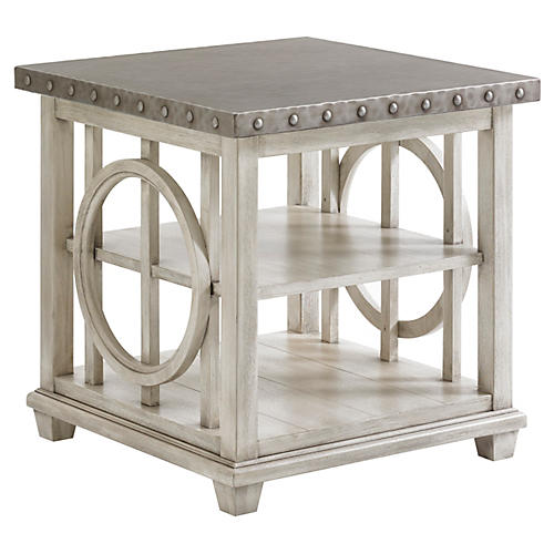 Lewiston Side Table, Oyster