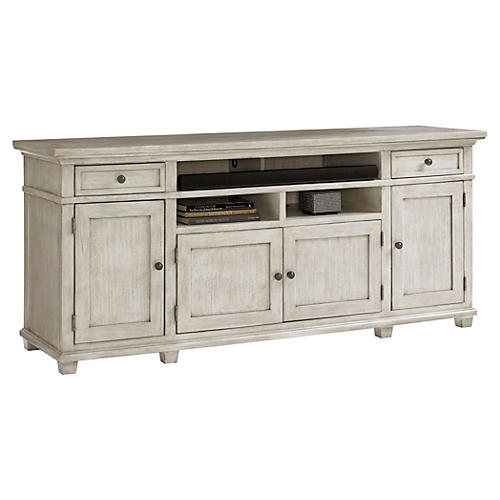"Kings Point 76"" Media Cabinet, Oyster"