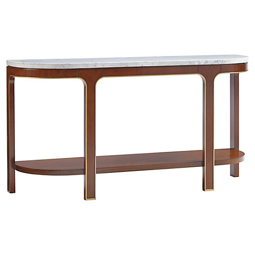 "Interlude Carrera 62"" Console, Hazelnut"