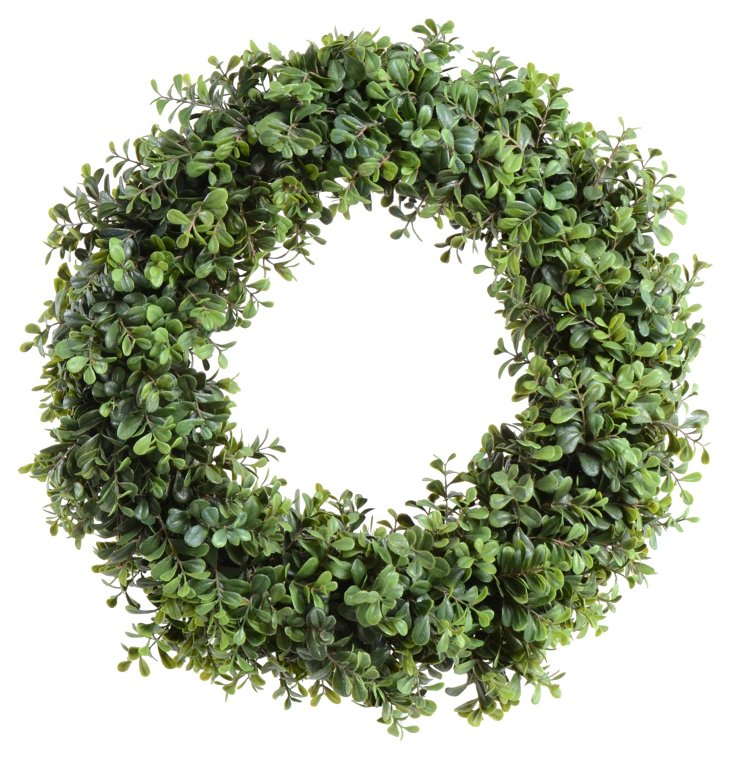 """18"""" Double-Sided Boxwood Wreath"""