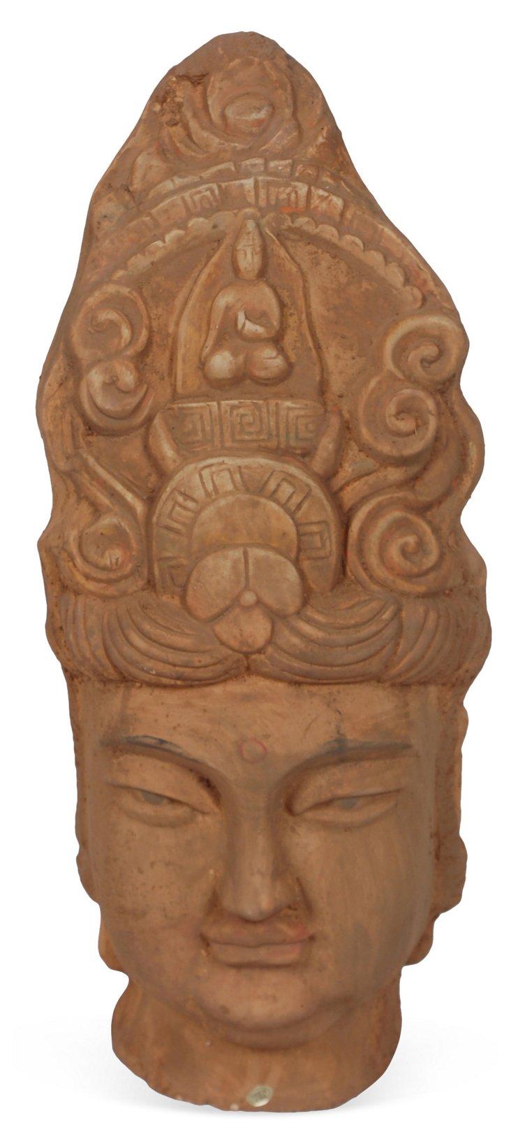Vintage Pottery Buddha