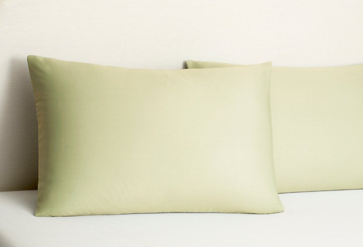 S/2 Bamboo Pillowcases, Green Tea