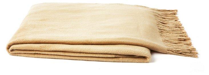 Silk Fleece Throw, Sand