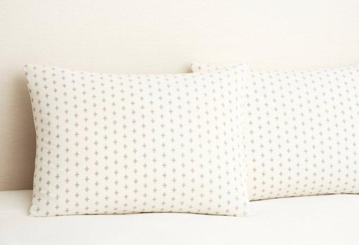 S/2 Taza Bamboo Dreams  Pillowcases, Ash