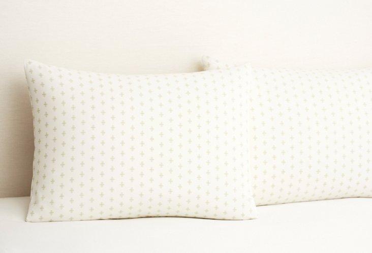 S/2 Taza Pillowcases, Green Tea