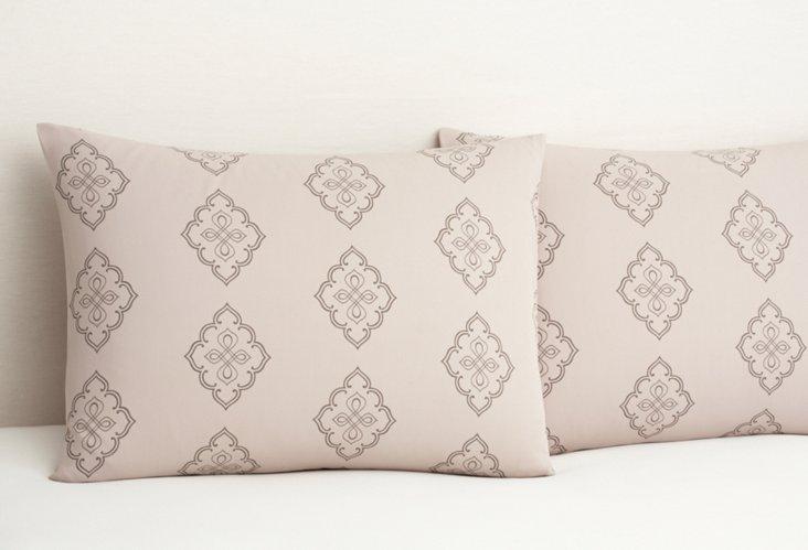 S/2 Midara Pillowcases, Ash/Pumice