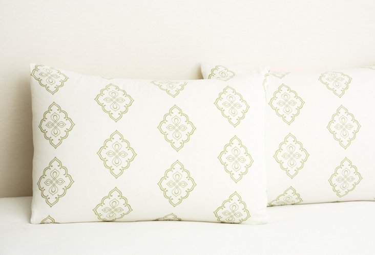 S/2 Midara Pillowcases, Green Tea
