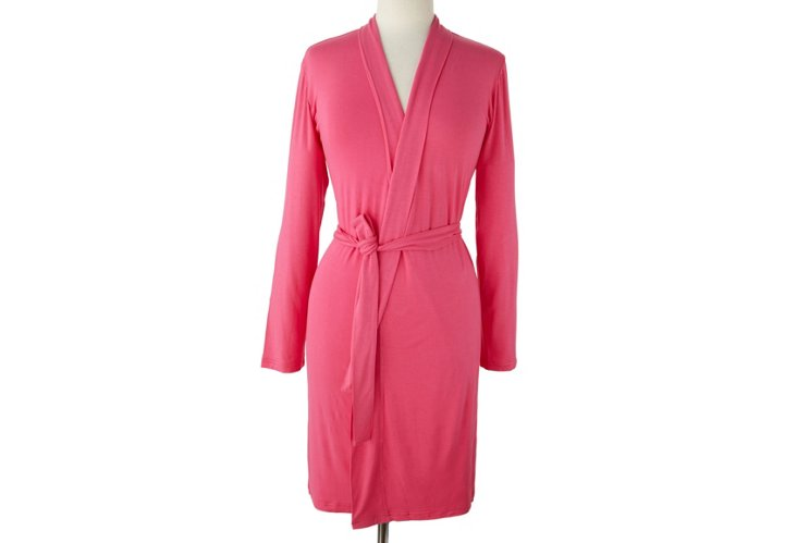 Short BambooDreams Robe, Pink