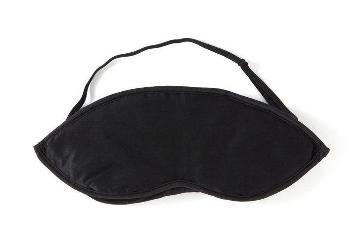 S/2 Silk Eye Mask, Black