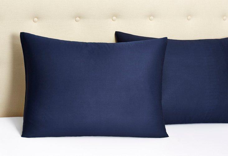 S/2 Bamboo Pillowcases, Indigo