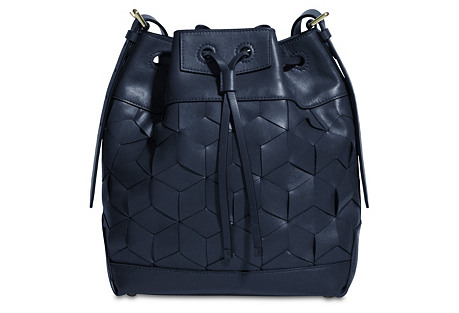 Gallivanter Bucket Bag, Navy