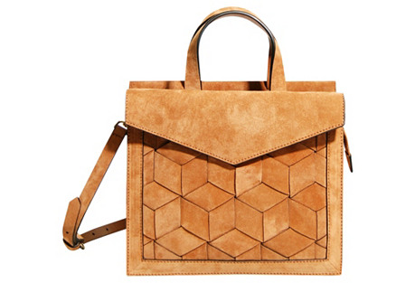 Voyager Small Flap Satchel, Natural