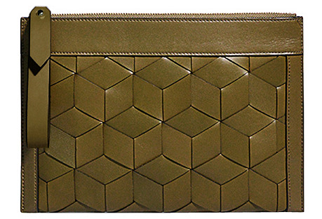 Portico Leather Pouch, Military Green