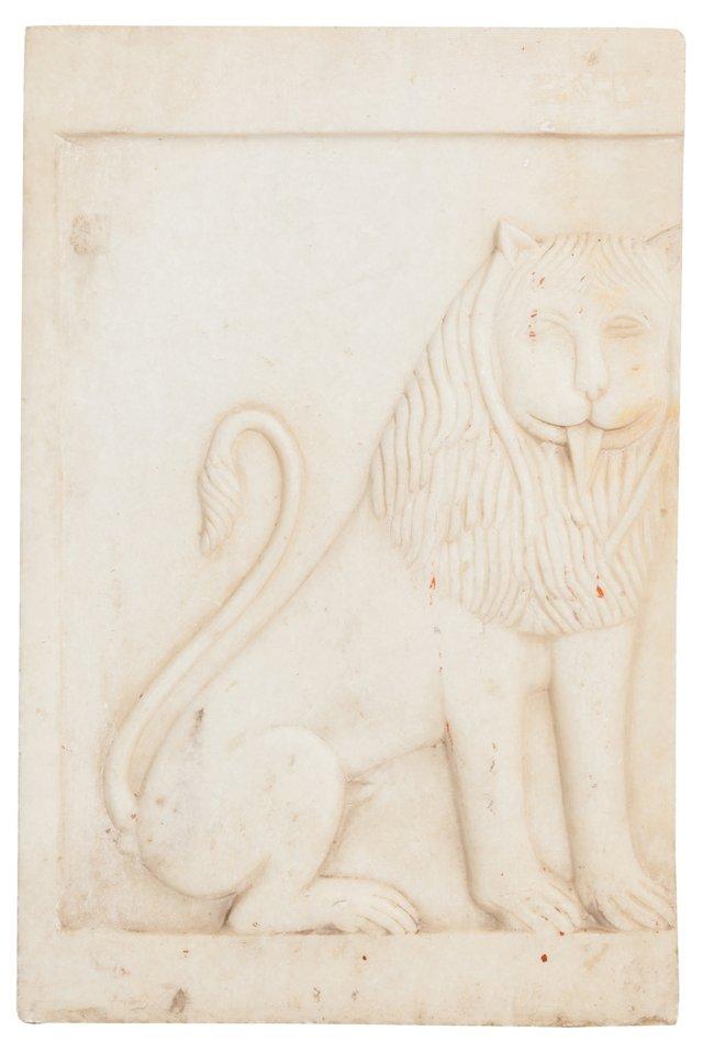 Alabaster Lion Carving