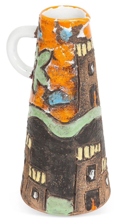 Midcentury Artisanal Pottery Jug