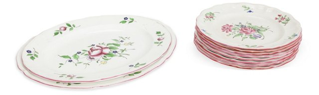 French Dinner Plates & Platters, 10 Pcs.