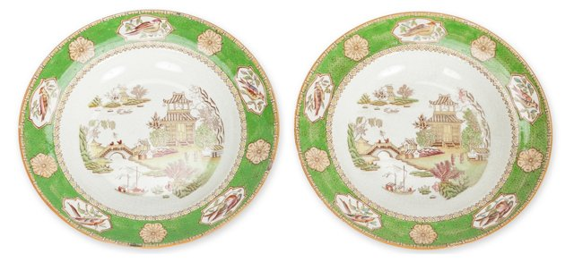 English Soup Dishes, Pair