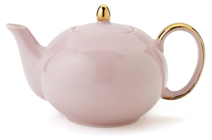 Teapot, Pink/Gold