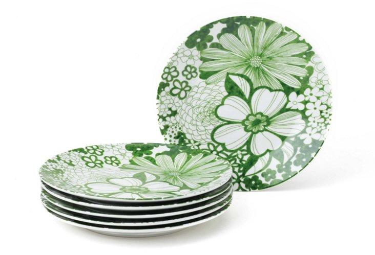 S/6 Mystic Garden Dessert Plates