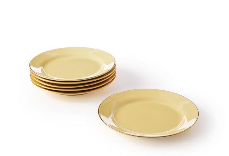 S/6 Porcelain Dessert Plates in Box