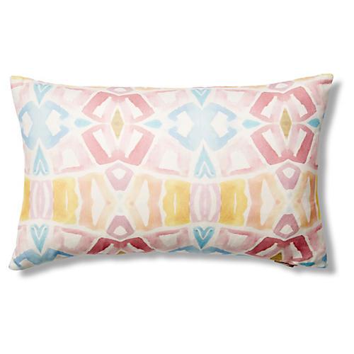 Lemon Tree 12x20 Pillow, Pink/Yellow