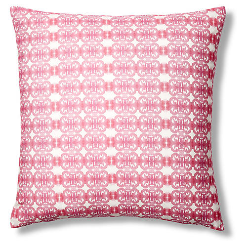 Blossom Rose 24x24 Pillow, Red