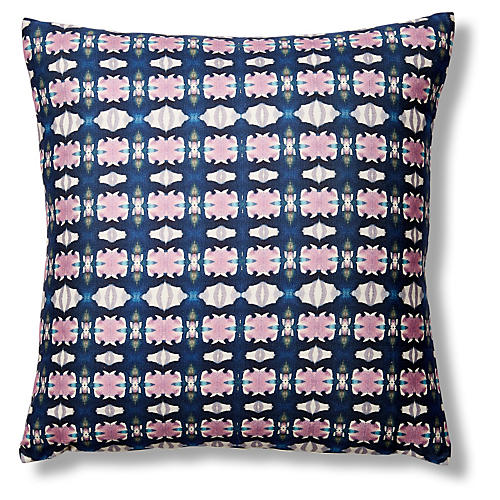 Ruby Le 20x20 Pillow Blue Pink