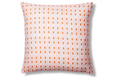 Picos 20x20 Pillow, Pink/Orange