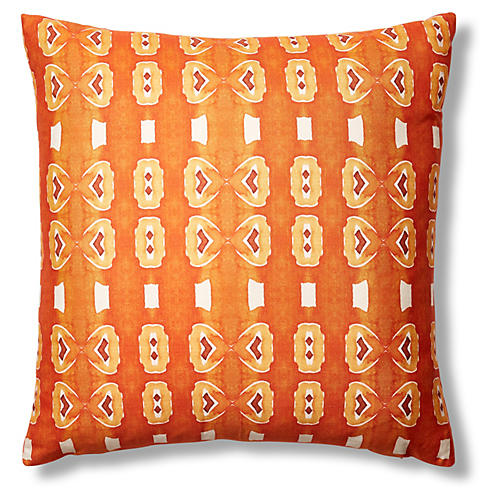 Santana 24x24 Pillow, Orange