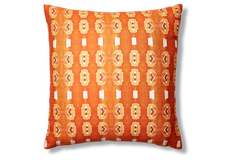 Santana 24x24 Pillow, Orange