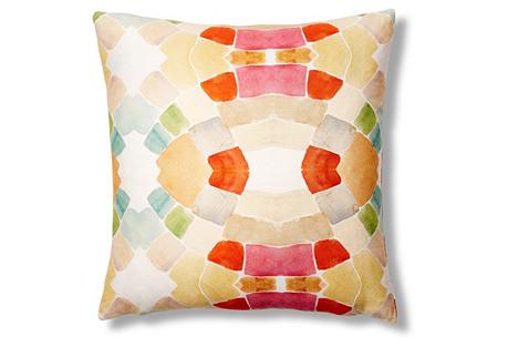 Mid-Century Pop 20x20 Pillow, Red/Orange