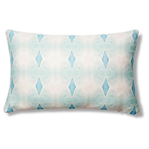 Santa Cruz 12x20 Pillow, Green/Blue