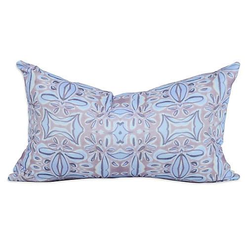 French Blossom 12x20 Lumbar Pillow, Purple