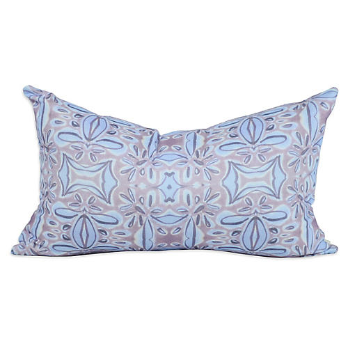French Blossom 12x20 Lumbar Pillow, Purple