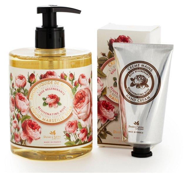 Liquid Soap & Hand Cream Set, Rose