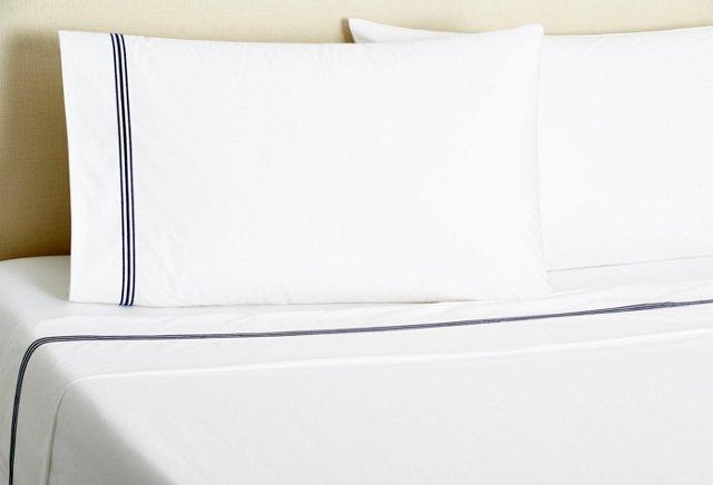 Signature Stripe Sheet Set, Navy