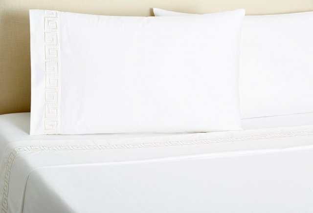 Greek Key Sheet Set, Ivory