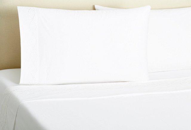 Trellis Sheet Set, White