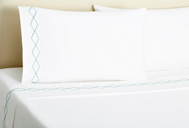 Trellis Sheet Set, Aegean