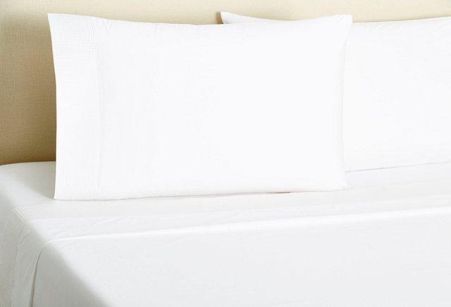 Basket-Stitch Sheet Set, White