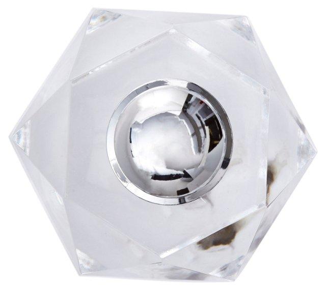 S/2 Deco Crystal Knobs