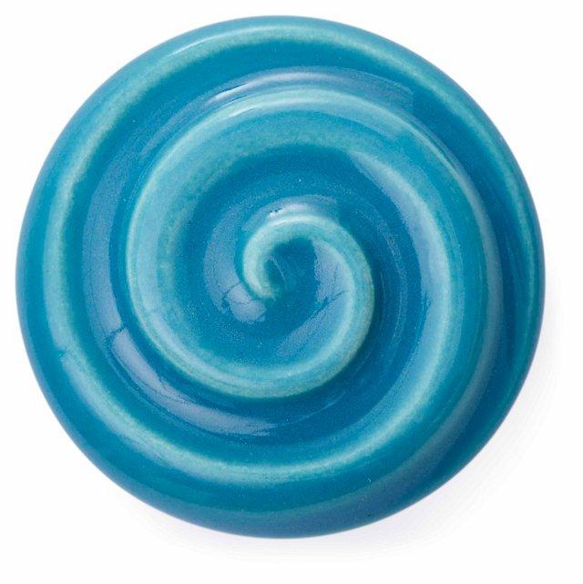 S/2 Artisan Sorbet Knobs, Ice Blue