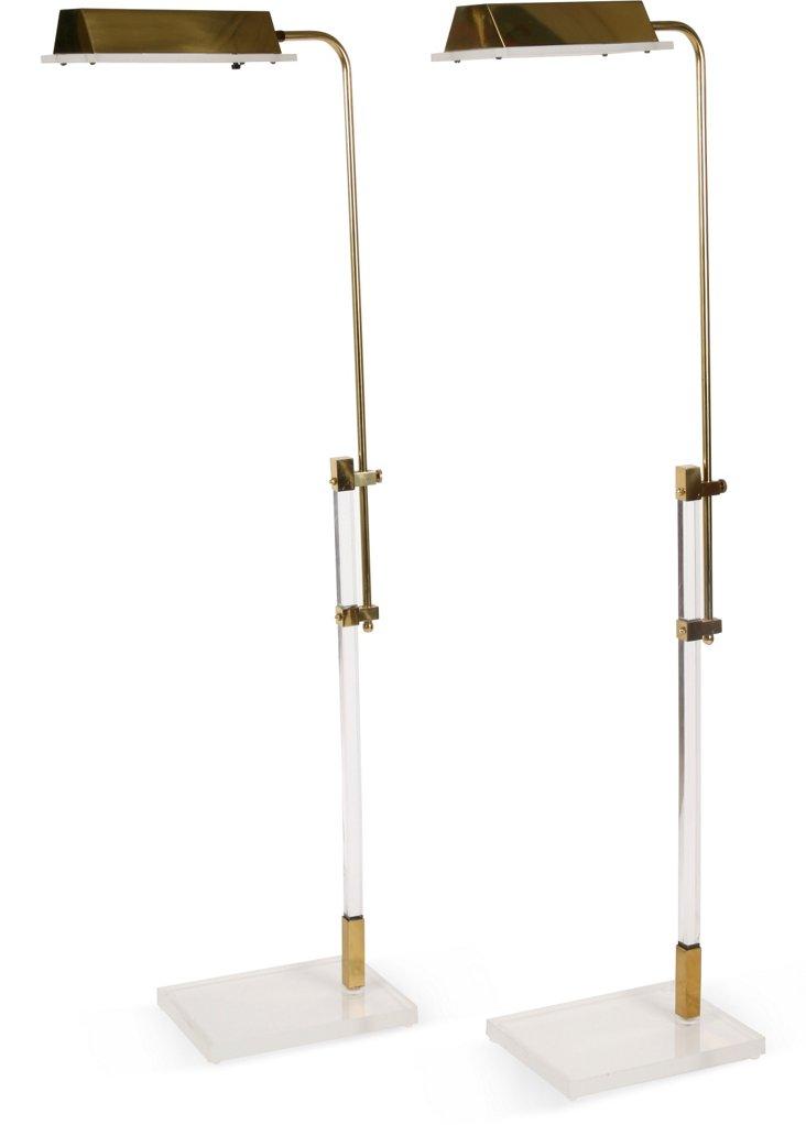Bauer Lamp Co. Floor Lamps, Pair