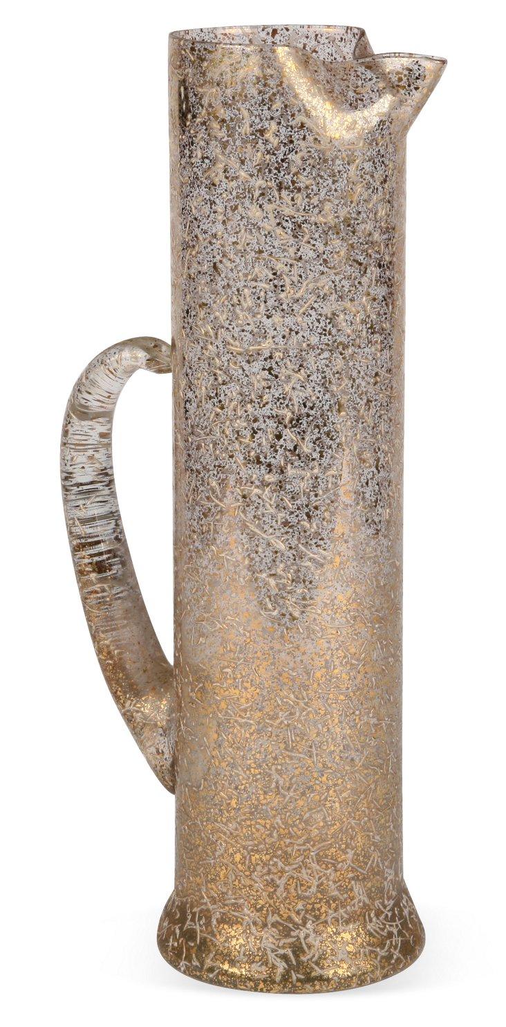 Gold Splattered Glass Carafe I