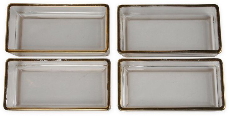 Glass Serving Dishes, Set of 4