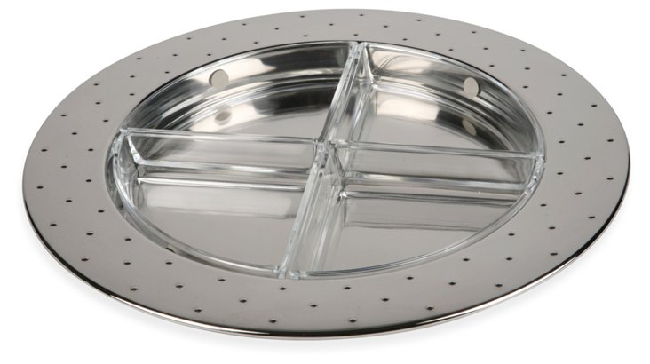 Alessi 4-Part Chrome Serving Tray