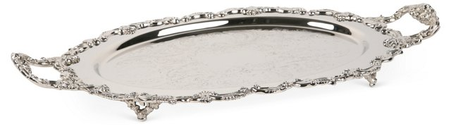 20th-C. Chrome-Plated Serving Tray